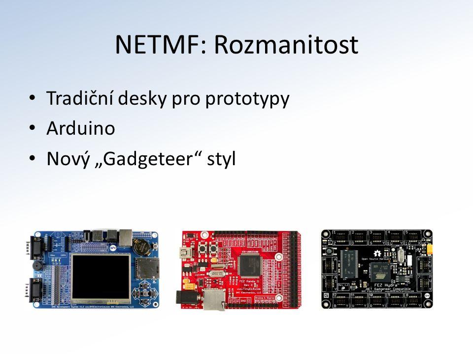 """NETMF: Rozmanitost Tradiční desky pro prototypy Arduino Nový """"Gadgeteer styl"""