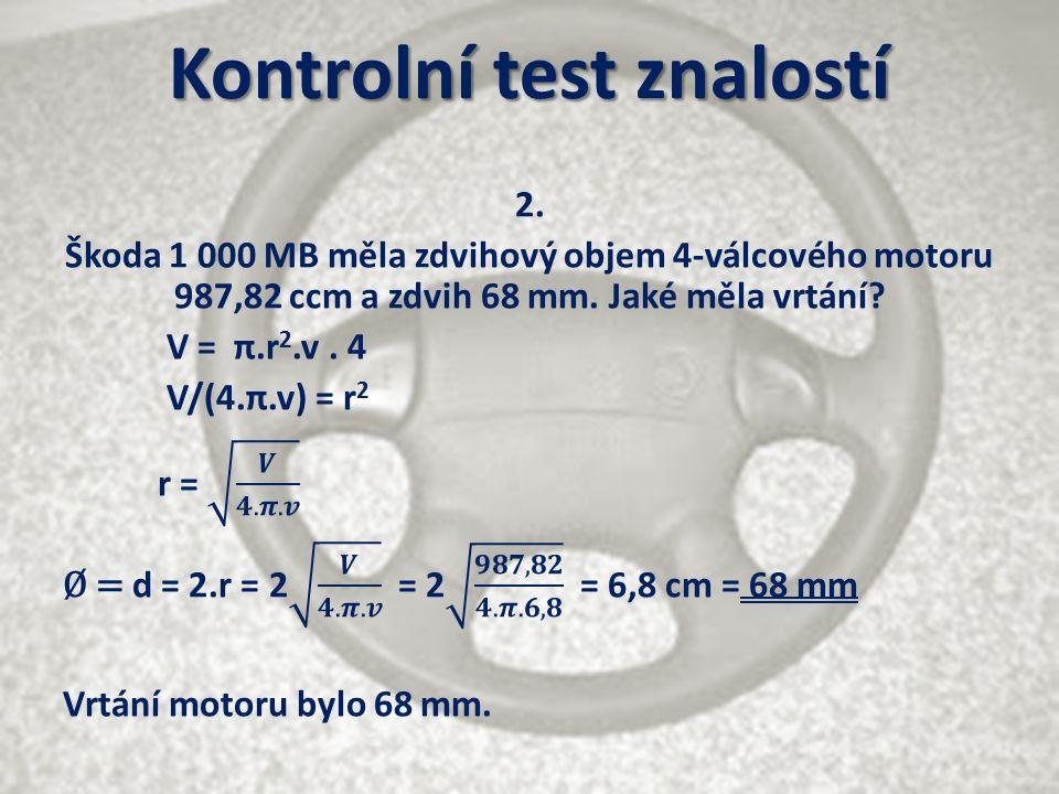 Kontrolní test znalostí