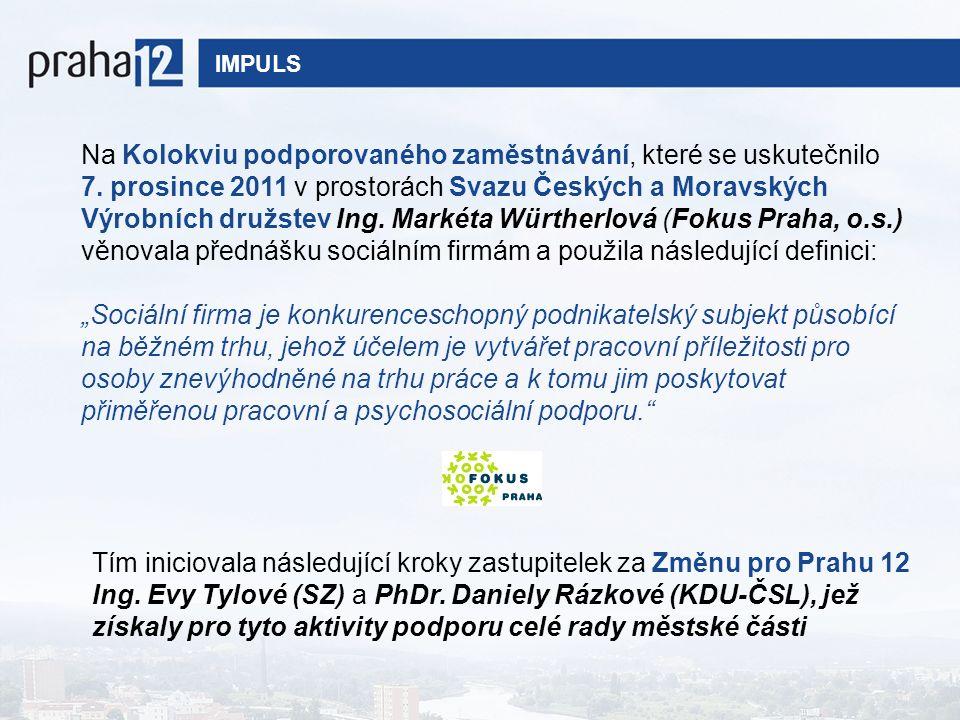IMPULS Na Kolokviu podporovaného zaměstnávání, které se uskutečnilo 7.