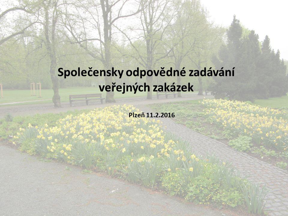 Společensky odpovědné zadávání veřejných zakázek Plzeň 11.2.2016