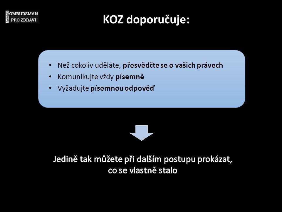 KOZ doporučuje: