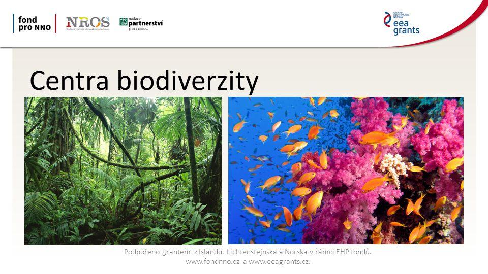 Centra biodiverzity Podpořeno grantem z Islandu, Lichtenštejnska a Norska v rámci EHP fondů.