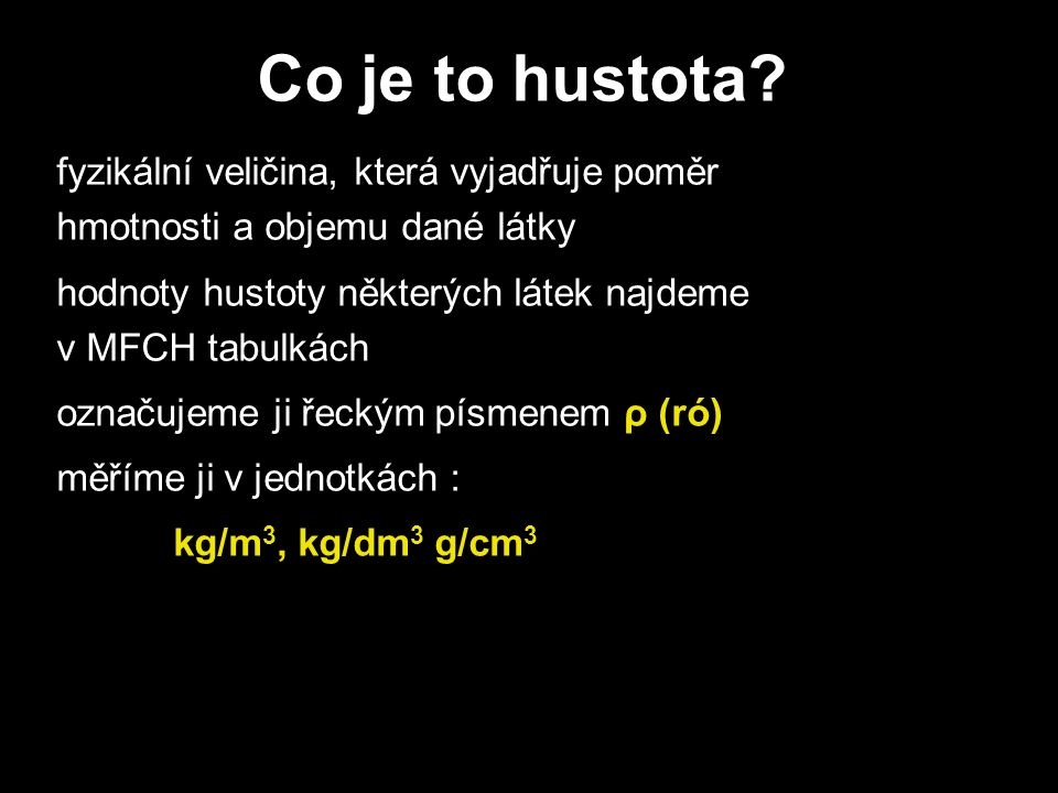 Co je to hustota.