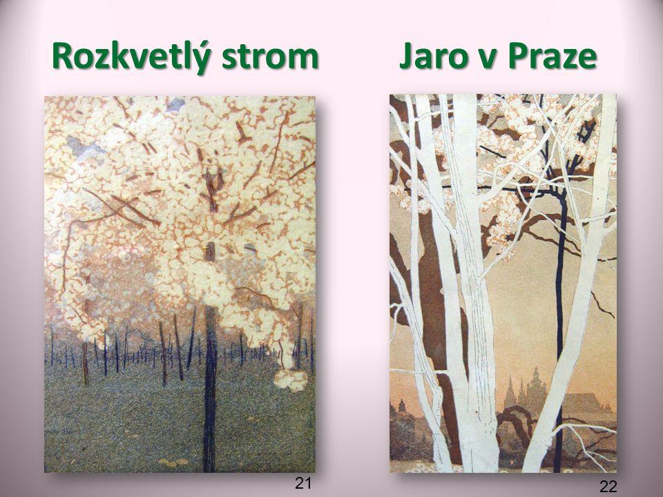 Jaro v Praze Rozkvetlý strom 21 22
