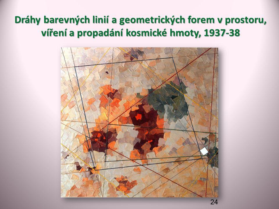 Dráhy barevných linií a geometrických forem v prostoru, víření a propadání kosmické hmoty, 1937-38 24