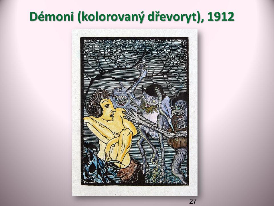 Démoni (kolorovaný dřevoryt), 1912 27