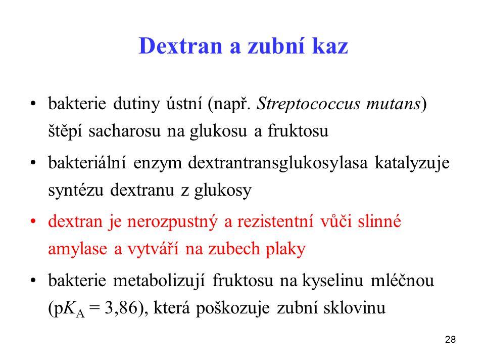 28 Dextran a zubní kaz bakterie dutiny ústní (např.
