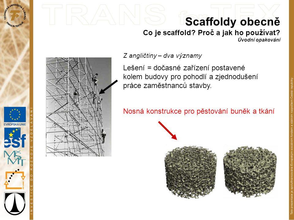 Scaffoldy obecně Co je scaffold. Proč a jak ho používat.