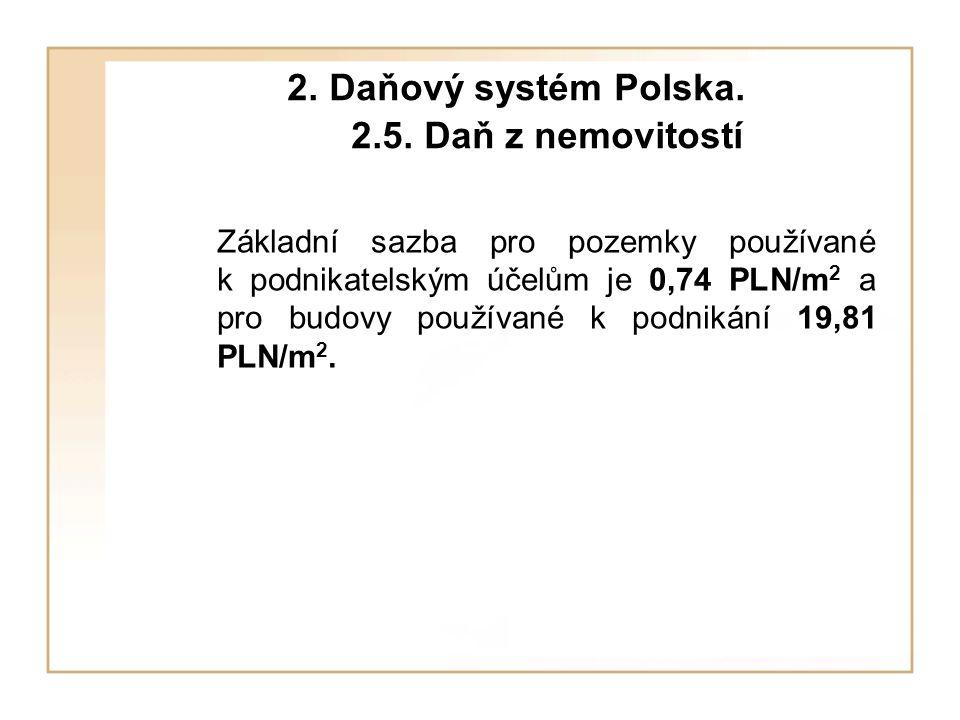 2. Daňový systém Polska. 2.5.