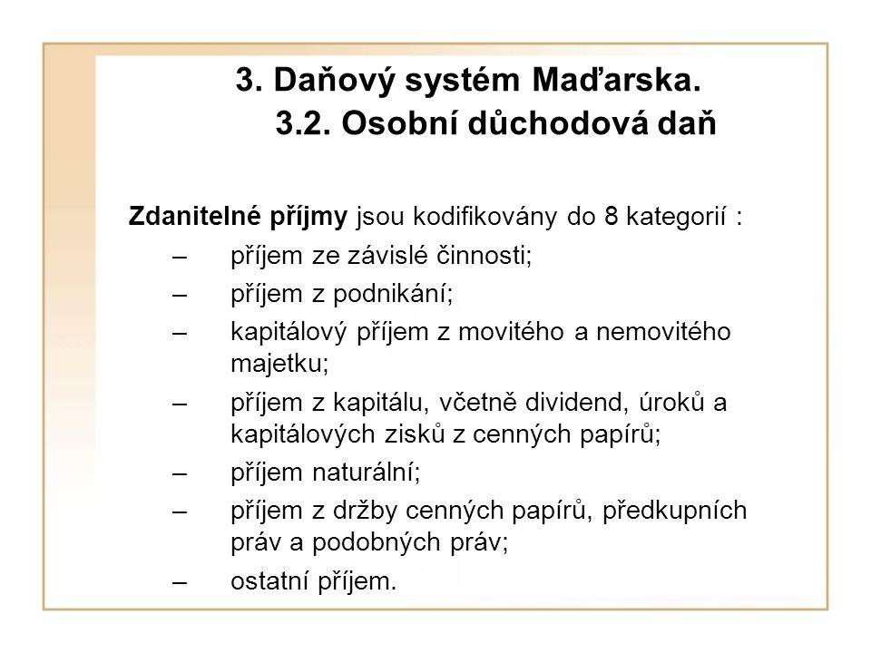 3. Daňový systém Maďarska. 3.2.