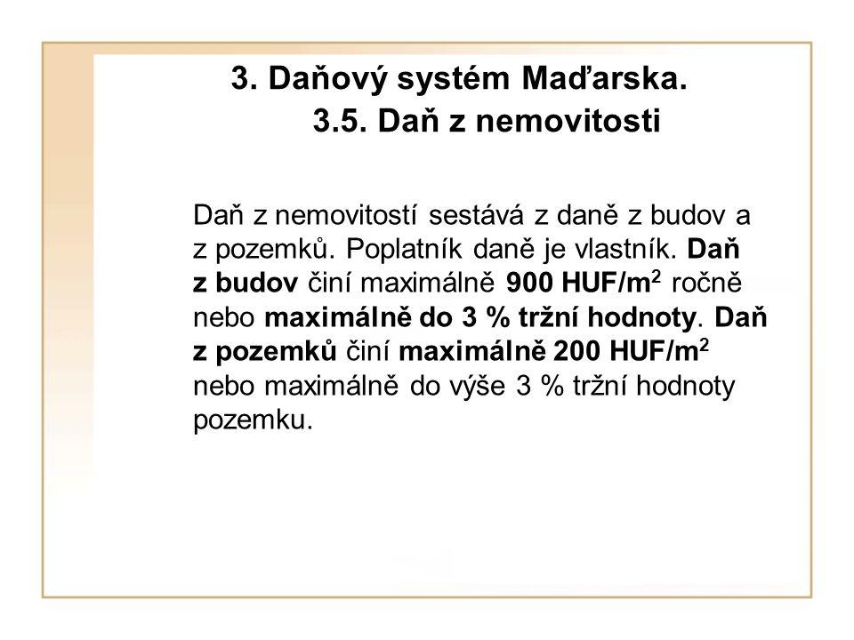 3. Daňový systém Maďarska. 3.5.