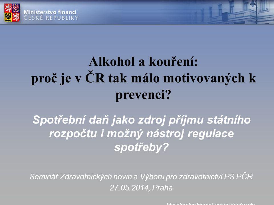 Alkohol a kouření: proč je v ČR tak málo motivovaných k prevenci.