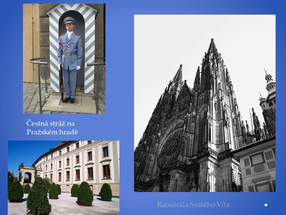 Čestná stráž na Pražském hradě Katedrála Svatého Víta
