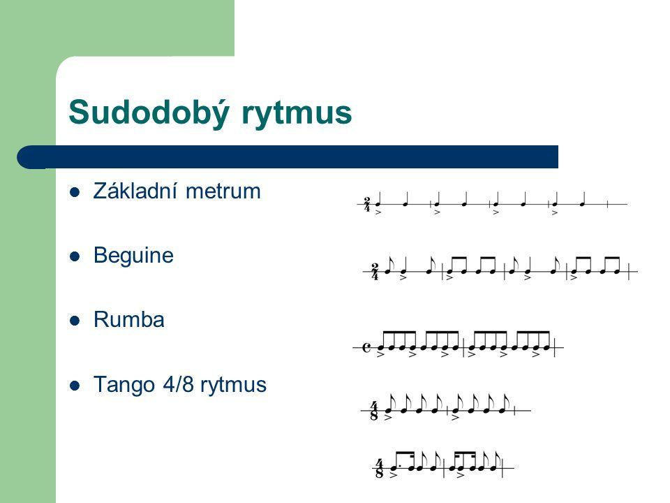 Základy hudební formy Existuje řada různých hudebních forem od nejjednodušších (např.
