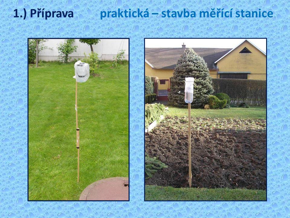 1.) Přípravapraktická – stavba měřící stanice