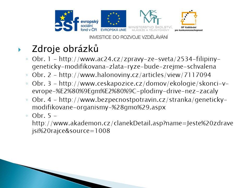 Zdroje obrázků ◦ Obr.