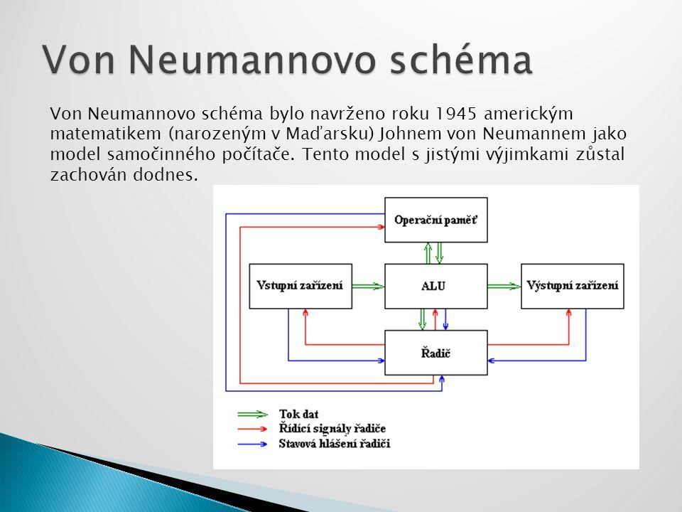 Von Neumannovo schéma bylo navrženo roku 1945 americkým matematikem (narozeným v Maďarsku) Johnem von Neumannem jako model samočinného počítače. Tento