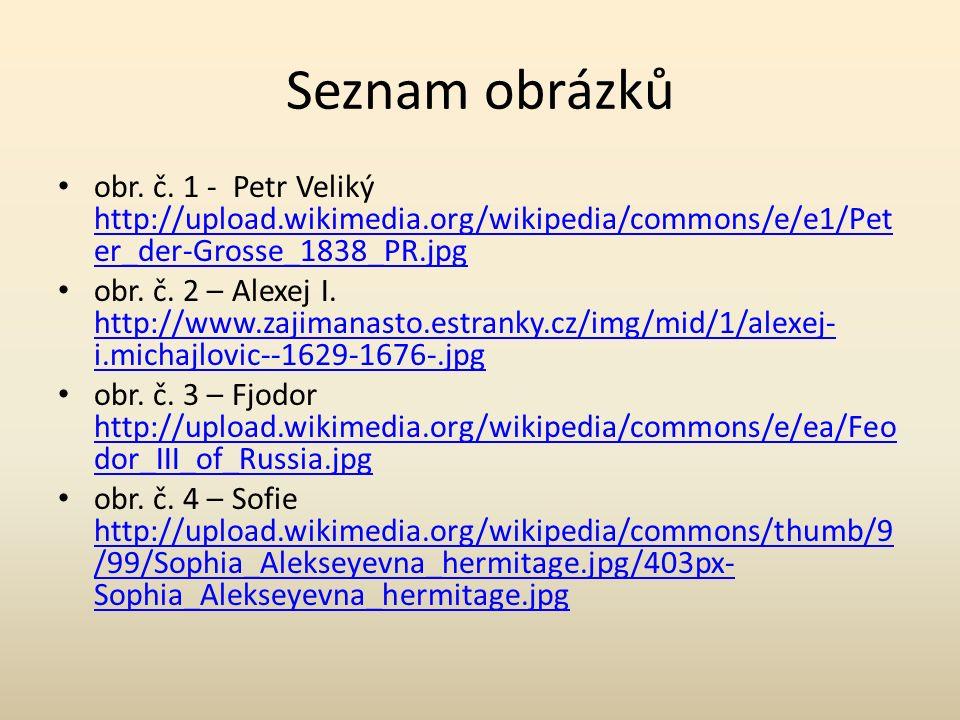 Seznam obrázků obr. č.
