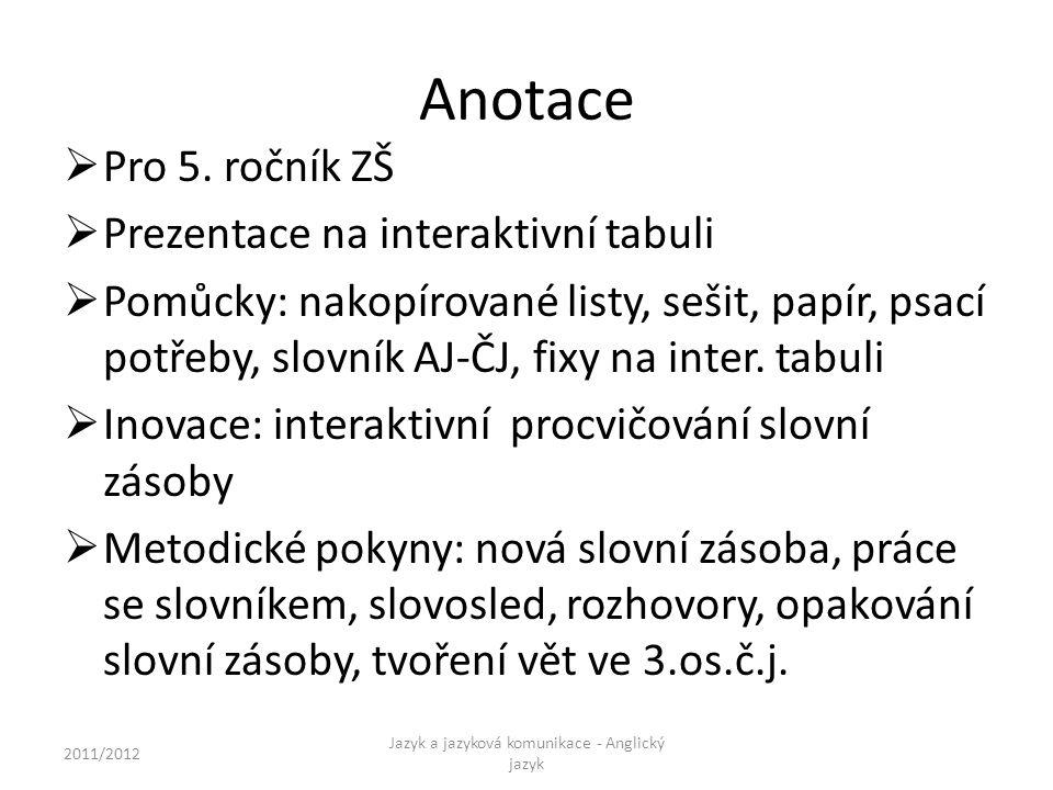 Anotace  Pro 5.