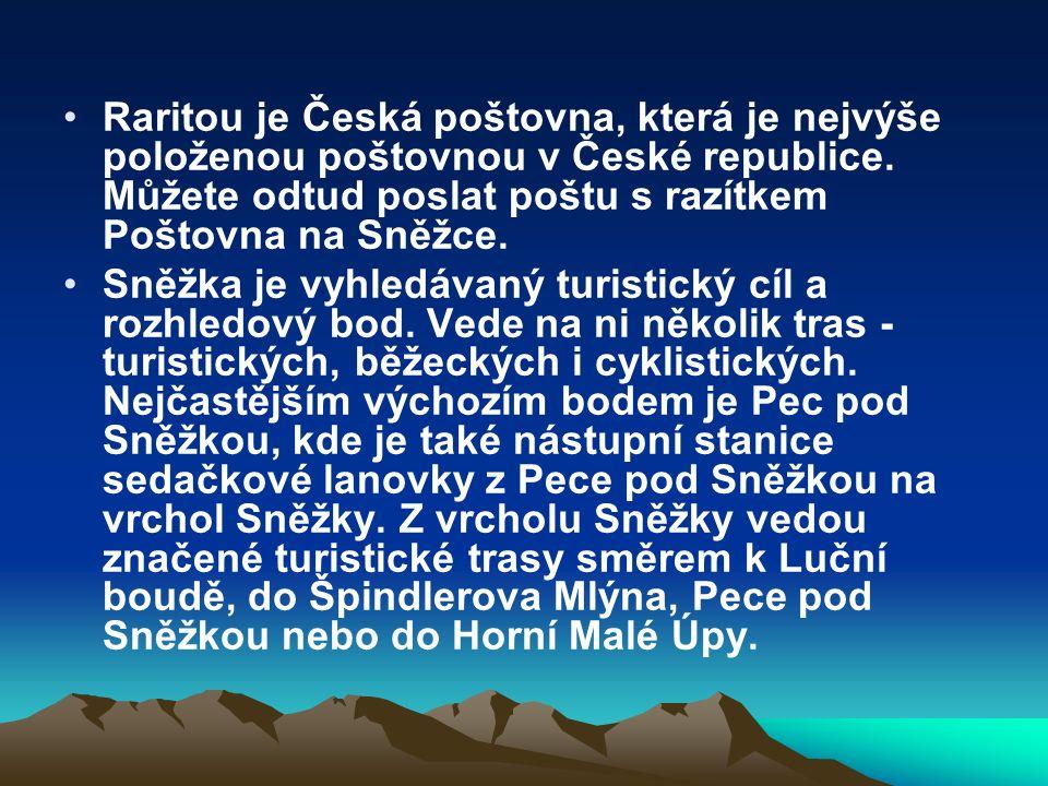 Raritou je Česká poštovna, která je nejvýše položenou poštovnou v České republice.