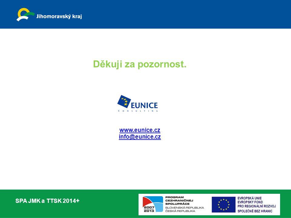 Děkuji za pozornost. www.eunice.cz info@eunice.cz SPA JMK a TTSK 2014+