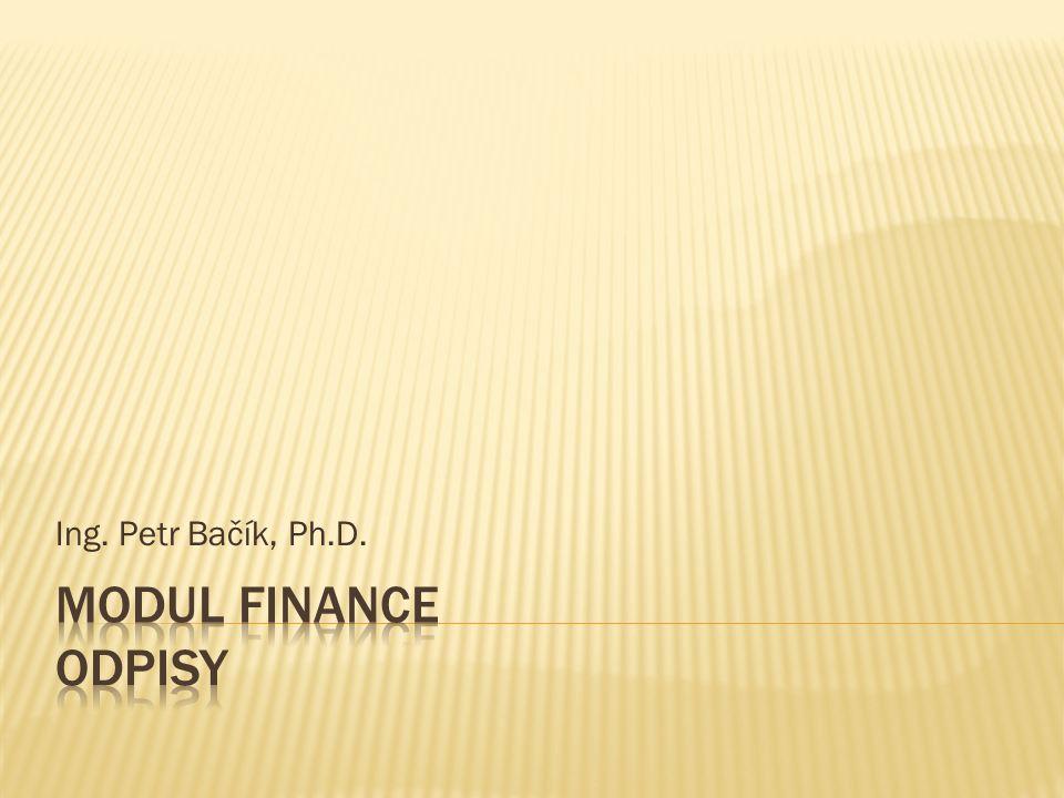 Jsou peněžním vyjádřením opotřebení dlouhodobého majetku a především jsou významným zdrojem financování.