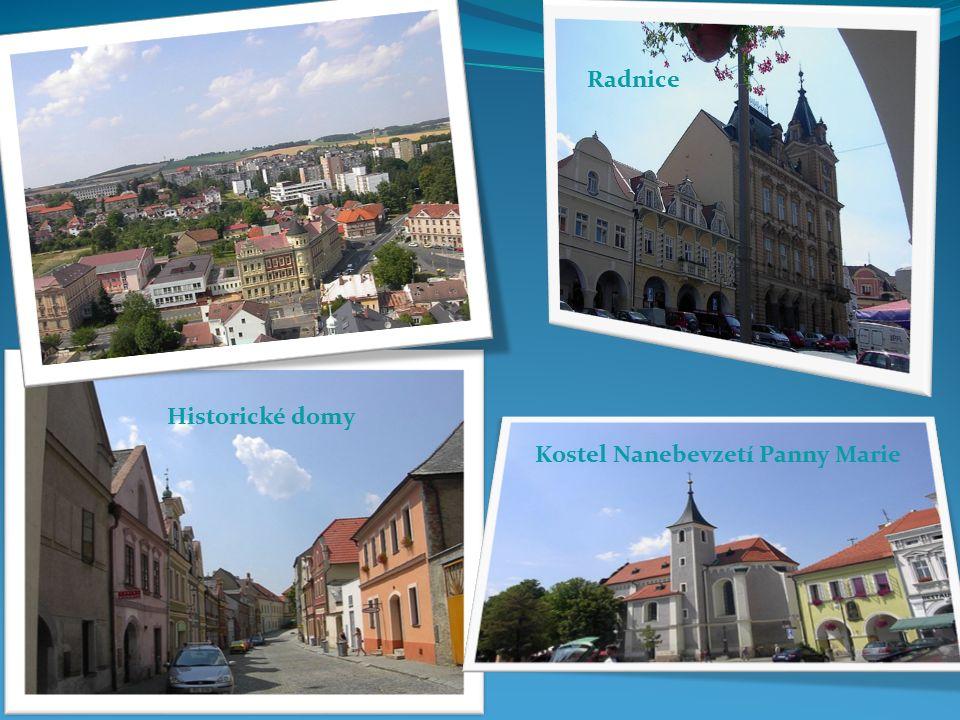Radnice Kostel Nanebevzetí Panny Marie Historické domy