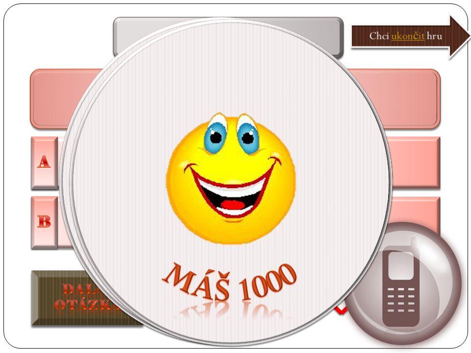 Popis hry Po kliknutí na správnou odpověď se otázka zvýrazní, ozve se aplaus Můžete kliknout na ikonu KONEC – objeví se rekapitulace získaných peněz D