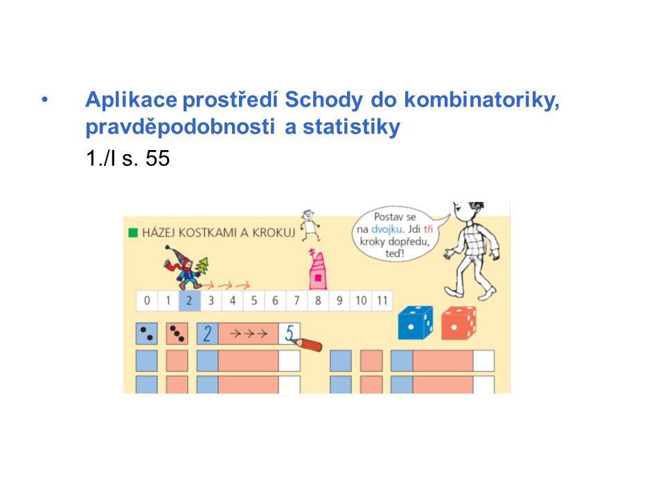 Aplikace prostředí Schody do kombinatoriky, pravděpodobnosti a statistiky 1./I s. 55