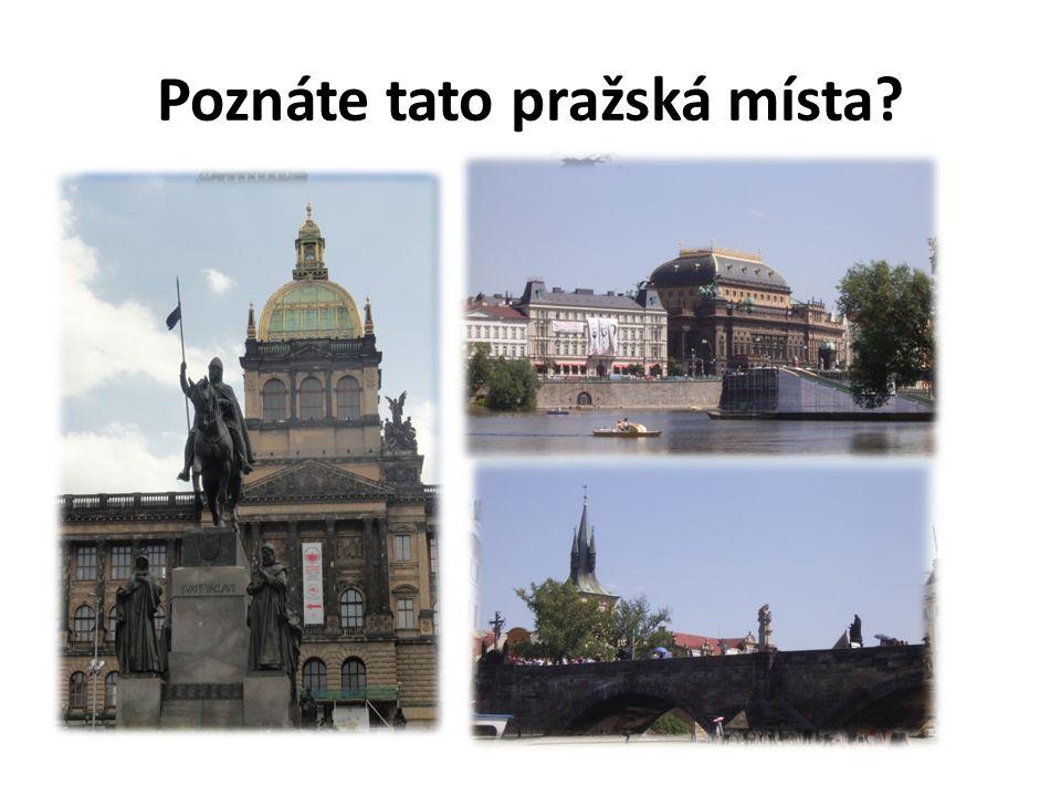 Zakresli naše hlavní město. Popiš polohu Prahy. Co všechno o tomto městě víš?