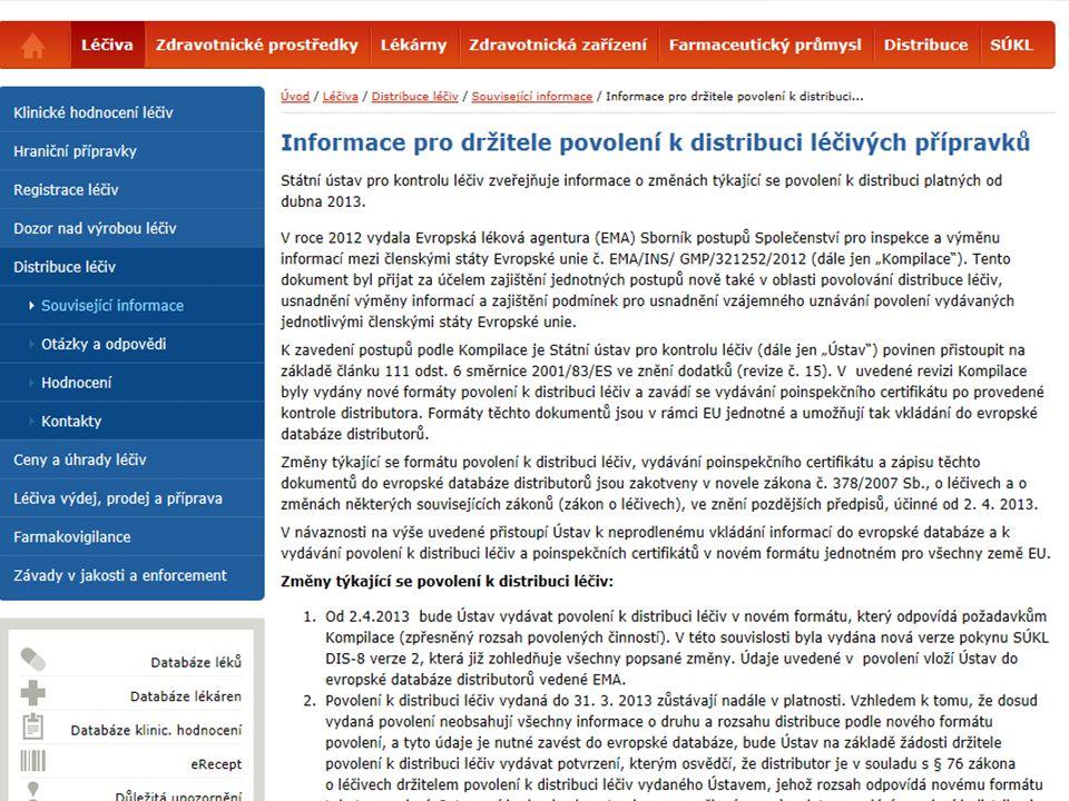 [ 14 ] Mgr. Apolena Jonášová Seminář SDP, Praha 24.4.2013 © 2013 Státní ústav pro kontrolu léčiv