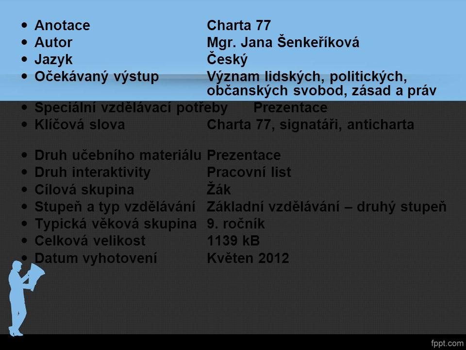 AnotaceCharta 77 AutorMgr.
