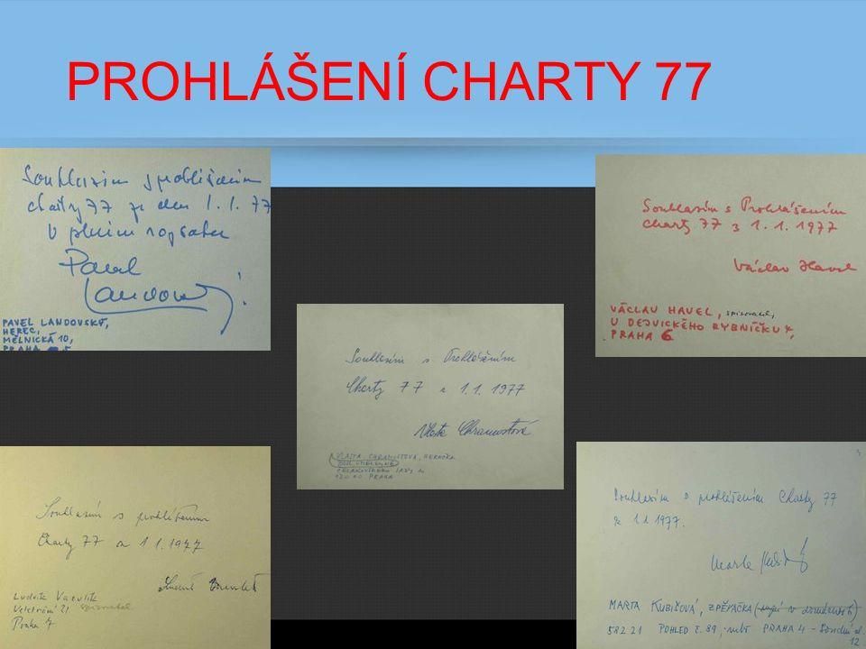 PROHLÁŠENÍ CHARTY 77