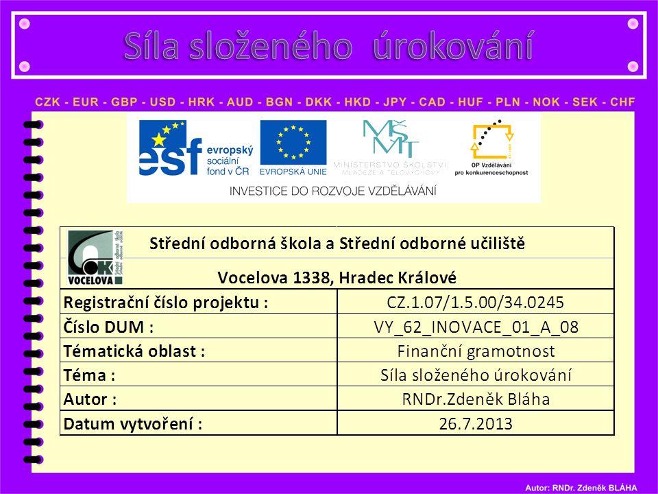 Anotace Materiál je určen pro 3.a 4.ročník studijních maturitních oborů předmětu MATEMATIKA, popř.