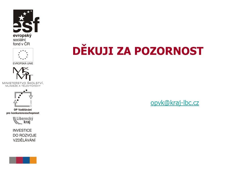 DĚKUJI ZA POZORNOST opvk@kraj-lbc.cz