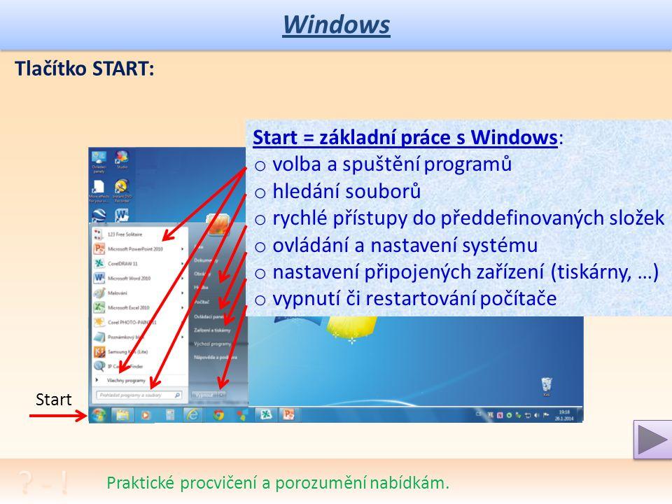 Windows Prohlédněte si strukturu plochy, panely a ikony vašeho systému. Plocha Windows: Pracovní plocha Windows (Win) slouží pro usnadnění práce. Je a