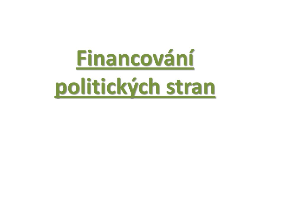 Financování politických stran