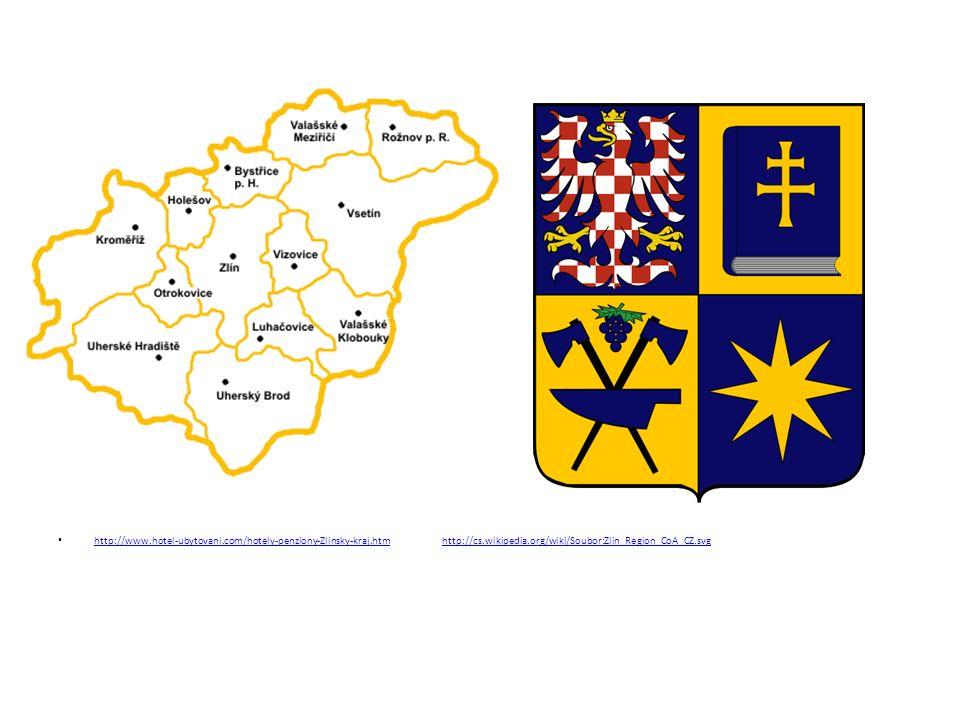Města Krajské město: Zlín Uherské Hradiště Luhačovice Kroměříž Rožnov pod Radhoštěm Valašské Meziříčí