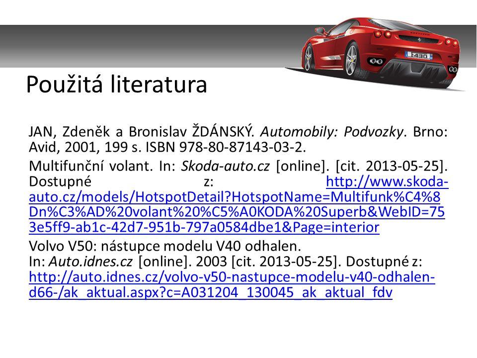 JAN, Zdeněk a Bronislav ŽDÁNSKÝ. Automobily: Podvozky.
