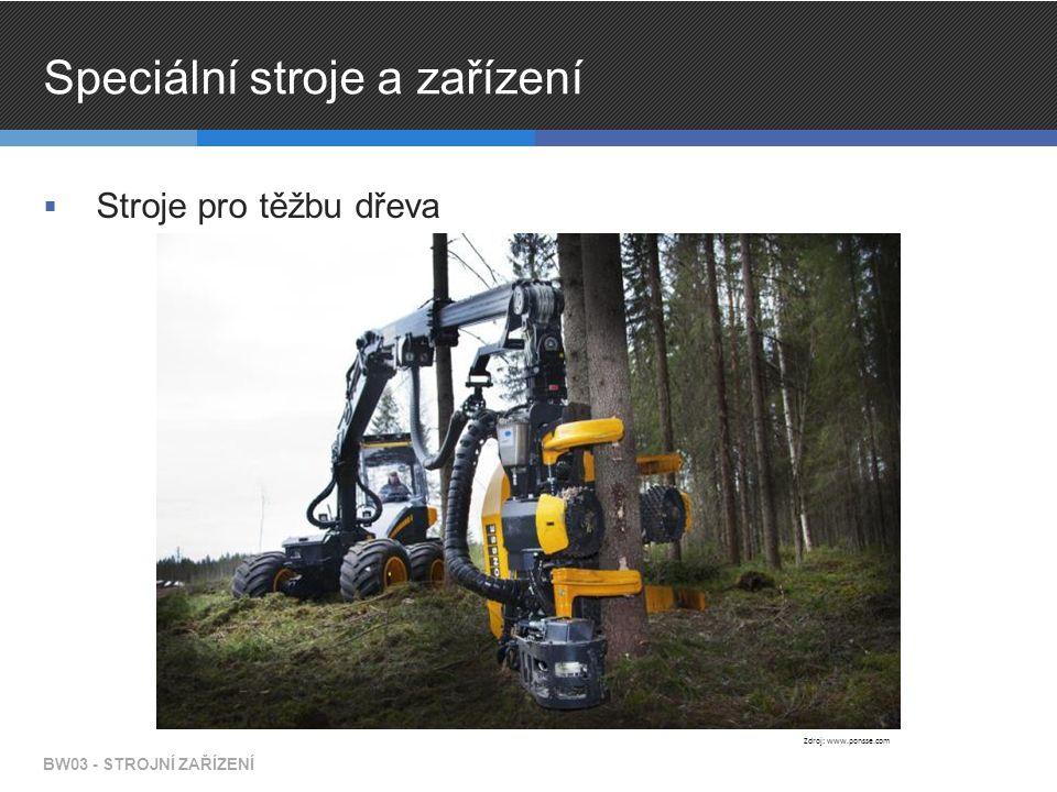 Speciální stroje a zařízení  Stroje pro těžbu dřeva BW03 - STROJNÍ ZAŘÍZENÍ Zdroj: www.ponsse.com