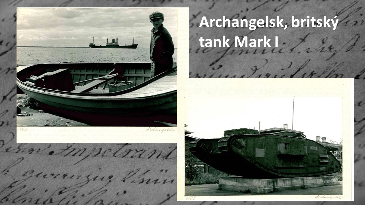 Archangelsk, britský tank Mark I