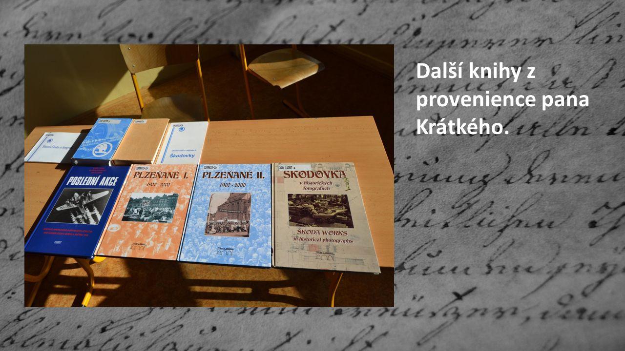 Další knihy z provenience pana Krátkého.