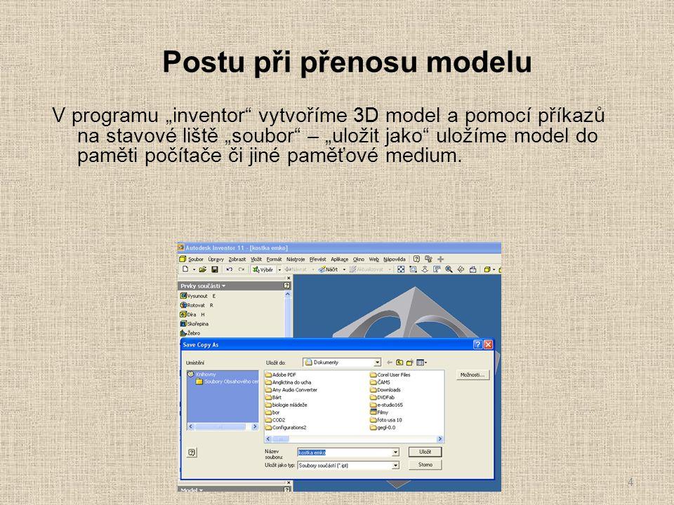 """Postu při přenosu modelu Po otevření programu """"EdgeCAM se nám objeví základní úvodní prázdná obrazovka."""