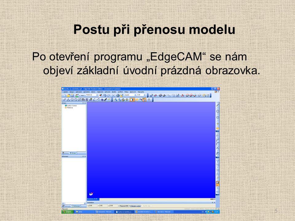 Úvodní nastavení modelu pro programování Tímto je nastavení nulového bodu ukončeno.