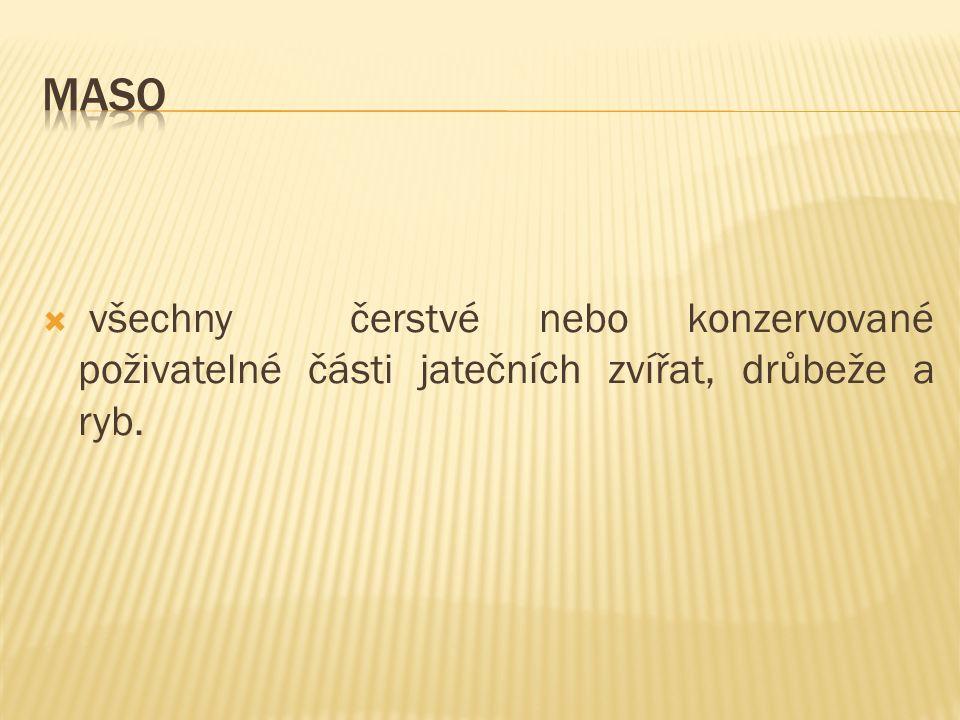  Plnohodnotné bílkoviny  Tuky  Sacharidy  Minerální látky – např.