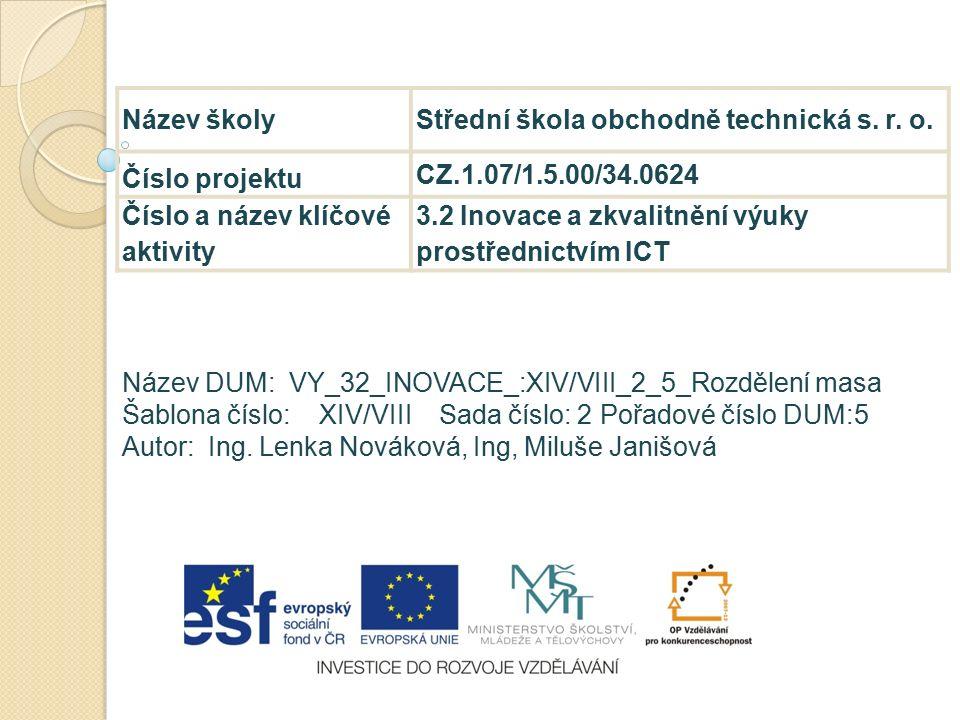 Název školyStřední škola obchodně technická s. r.