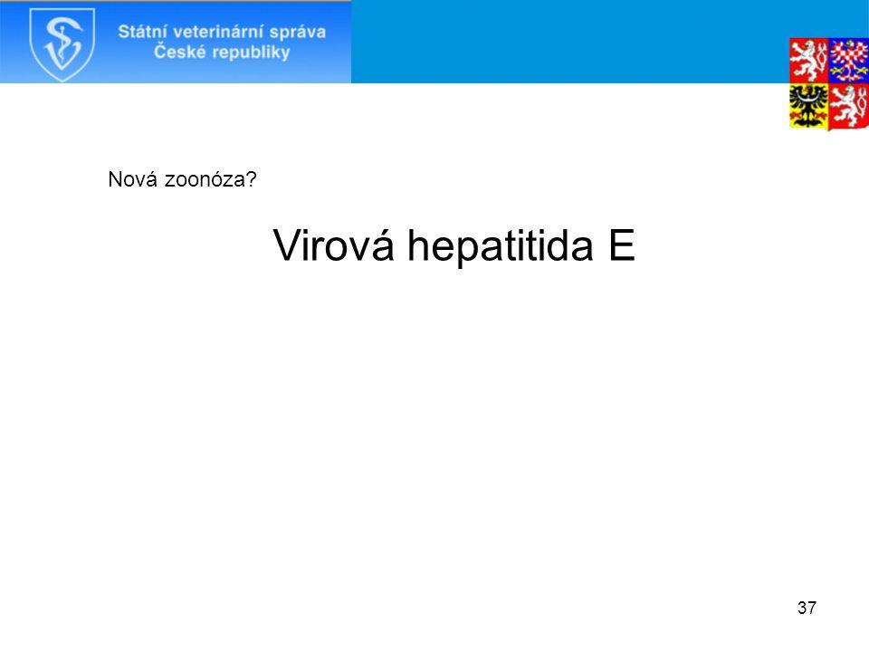 37 Nová zoonóza Virová hepatitida E