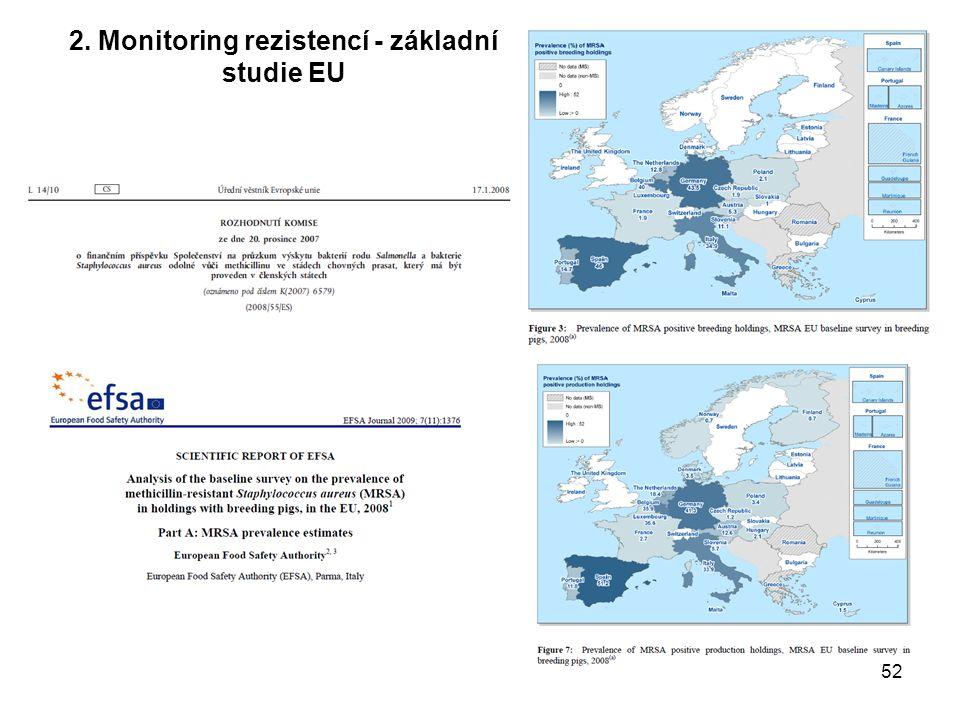 2. Monitoring rezistencí - základní studie EU 52
