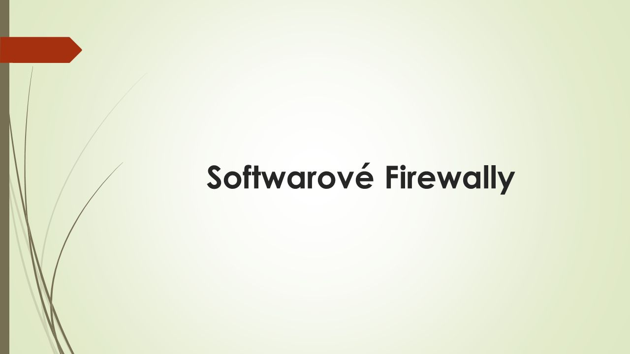 Softwarové Firewally