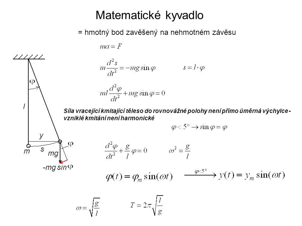 Tlumené kmity mechanické Řešení diferenciální rovnice: